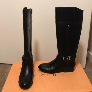 Unisa Tall Black Leather Boots